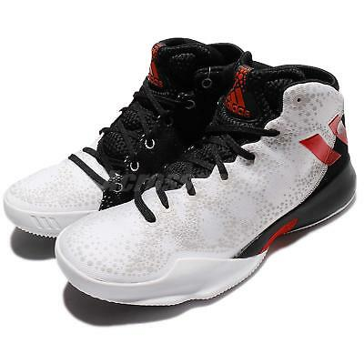 low priced 8d25a 36bcd adidas Crazy Heat White Scarlet Black Men Basketball Shoes Sneakers BY4529