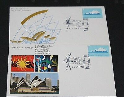 AUSTRALIA 1973 7c OPERA HOUSE ON 2 A/P FIRST DAY COVER UNADDRESSED NO.1