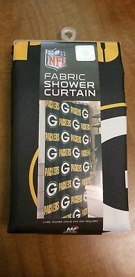 NFL Green Bay Packers Polyester Fabric Shower Curtain NWOT 72x72