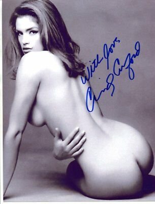 Ciindy Crawford Signed autograph NO RESERVE B1618