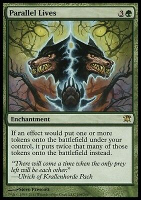 MTG 1x PARALLEL LIVES - Innistrad *Rare Enchantment NM*