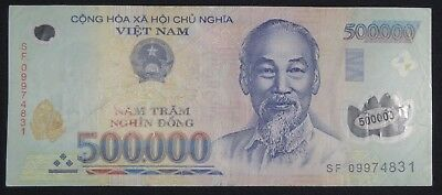 500 000 Vietnam Dong Polymer Banknote Au