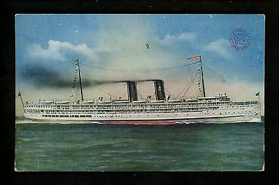 Ship Vintage postcard Steamer  Los Angeles CA Steam Ship SS Yale Harvard