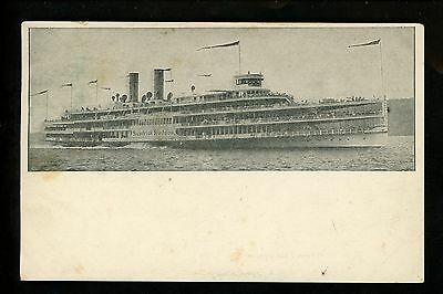Ship Vintage postcard Steamer Hudson River DayLine Steam Ship