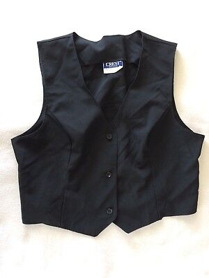 Lot of 14 Women's Black Vests Theatrical Special Occasion M L XL 2XL