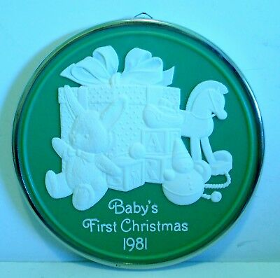 "1981 Hallmark Keepsake Ornament ""Baby's First Christmas"" Cameo-Look"