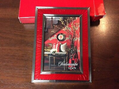 Lenox Scalamandre Red w/ silverplate Frame for 4x6 photo