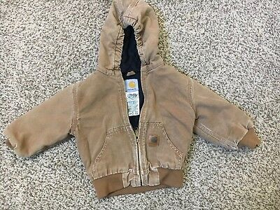 Carhartt children's jacket 2T with Hood Ytj130 Brn