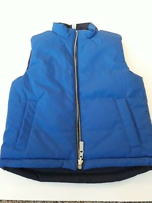 Hanna Andersson Boys puffy Vest - Size 1004 4t reversible blue