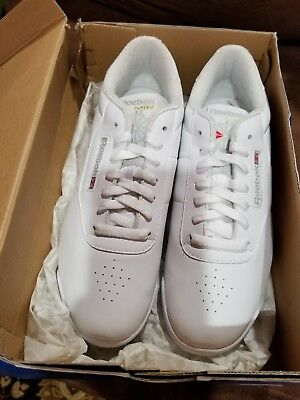 7e4cb5a5c0a Vintage NIB Reebok Princess Womens Walking Shoes Flat Heel classic white  size 11