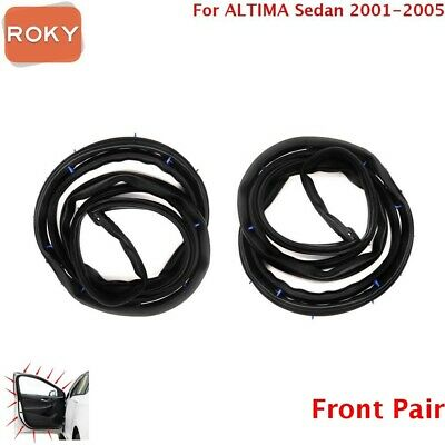 2 PC Front Door Opening Weatherstrip Seal Rubber for Nissan ALTIMA 2001-05