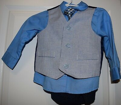 Baby Boys 4 Pc. Suit ~Size 12 Months~Worn Once~Excellent Condition