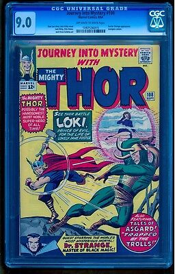 Journey Into Mystery 108 Cgc 9.0 * Thor  Classic Loki Cover * Under Graded