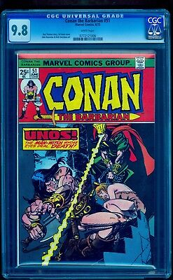 Conan The Barbarian 51 Cgc 9.8 White ** Highest Graded ** No Reserve Auction