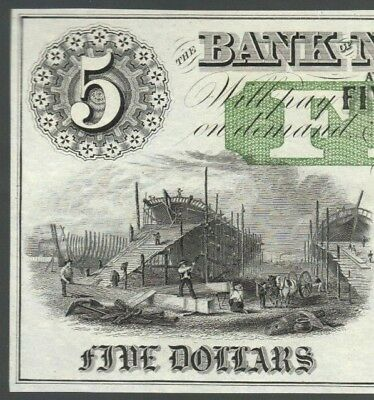 $5 New England Bank Five Dollar Bill Obsolete East Haddam CT Note Money Currency