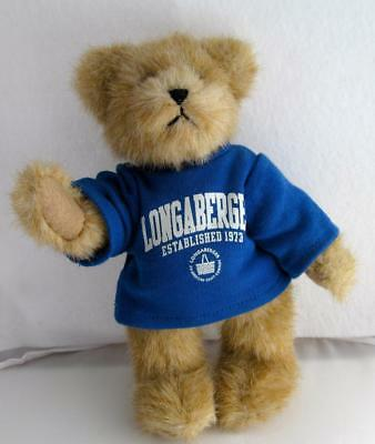 "Vintage Boyd's Teddy Bear for LONGABERGER "" Blue T-Shirt  #4-11"