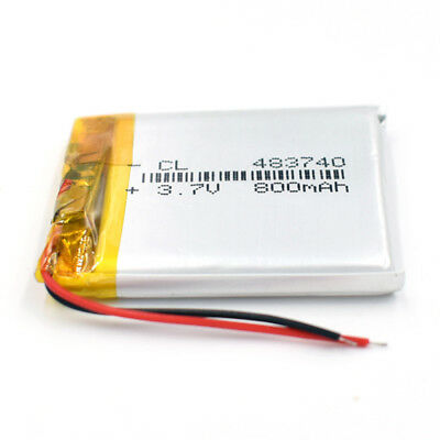 10Pcs 3.7V Li-polymer Rechargeable Battery Li-ion LiPo 800mAh 483740 For GPS MP3