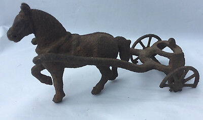 Vintage Cast Iron Horse with Rigging