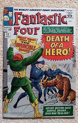 Fantastic Four 32 November 1964 Kirby Lee  F+ No Reserve