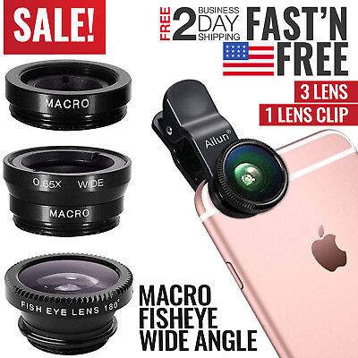 iPhone Camera Lens Smartphone Kit Zoom Mobile Attachment Fisheye Macro Wide