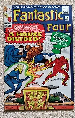 Fantastic Four 34 January 1965 Kirby Lee F+ No Reserve