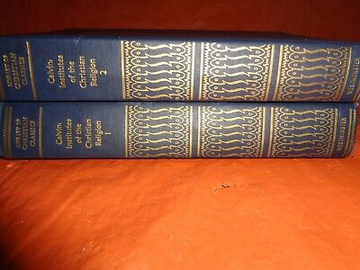 2 Volumes Calvin Institute of the Christian Religion, G, HC, 1967, 4th printing