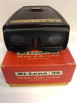 Vintage Bi-Lens 35 mm Slide Viewer - EX -Boxed By Sawyers Makers Of View master