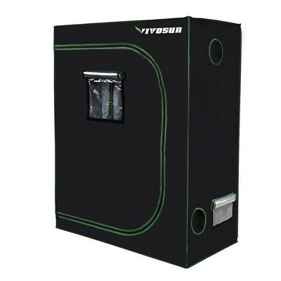 """600D Mylar Hydroponic Indoor Grow Tent Plant W Obeservation Window 48""""x24""""x60"""""""