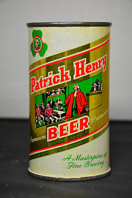 "Patrick Henry Premium Beer flat-top can, Fox DeLuxe Brewing, ""TOUGH"""