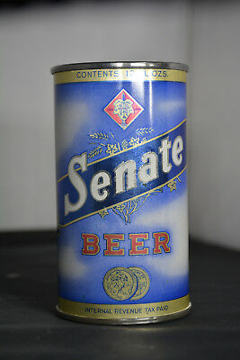 Senate Beer flat-top can, Christian Heurich Brewing, Washington DC **GORGEOUS**