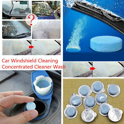 10Pcs Car Windshield Glass Wash Cleaning Concentrated Effervescent Tablets