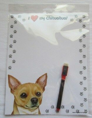 Chihuahua 8 x 10 Magnetic Dry Erase Dog Memo Board Notepad Refrigerator Magnet