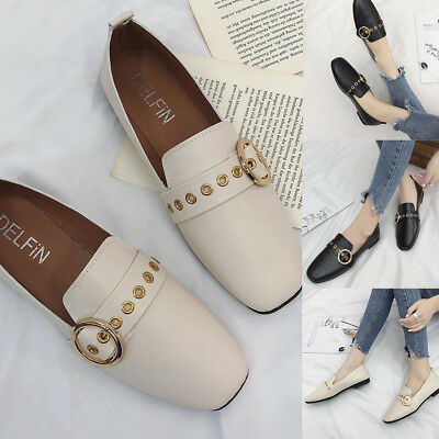 Fashion Women Casual British Single Shoes Shallow Mouth Small Shoes Flat Shoes