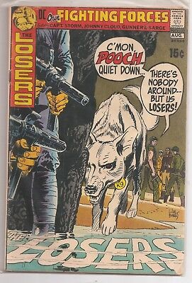 Our Fighting Forces #132 Dc War Comics 1971 The Losers Joe Kubert Cover