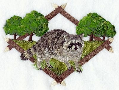 "Raccoon Embroidered Patch 6.5""x 4.7"""