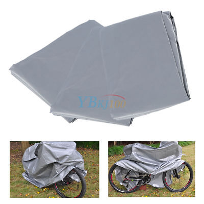 Bike Rain Cover Waterproof Garage Outdoor Bicycle Silver-Gray PEVA 200x100cm