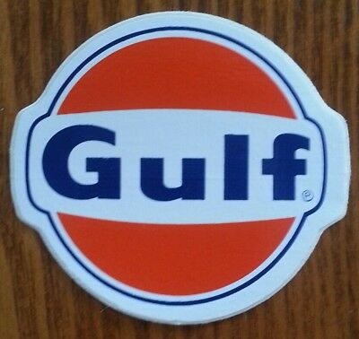 Nos !! Gulf Oil Gasoline Decal Sticker*racing*truck*auto*hot Rod*ships Free *