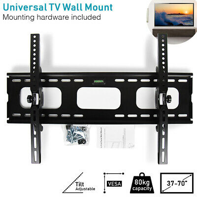 "37-70"" TV Wall Bracket 80kg Universal LCD Plasma LED Screen Mount Tilt"