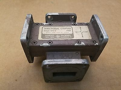 Agilent HP X750D X-Band WR-90 4-Port 20dB Dual Directional Waveguide Coupler RF