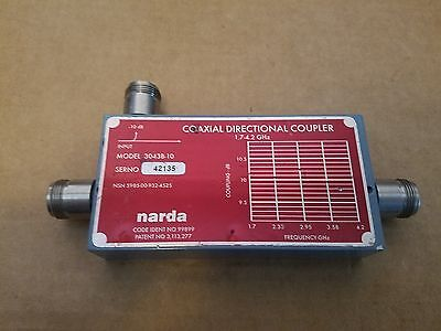 Narda 3043B-10 Coaxial Directionnel Coupleur 1.7-4.2GHz Micro-Ondes Type-N (F)