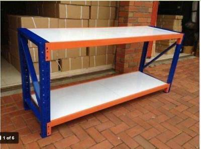 200x60x90cm Metal Steel Workbench Workshop Shelving Warehouse Stand Work Bench