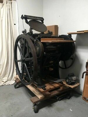 Chandler and Price 10x15 antique letterpress printing press. Great machine!