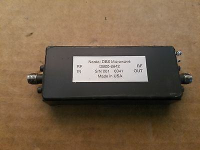 Narda DBS DB00-0642 Microwave High Power RF Amplifer 30dB? Gain SMA(f) +12V #001