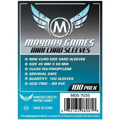 Mayday -  Mini Euro Card Sleeve (pack Of 100) - 45 Mm X 68 Mm  - BRAND NEW