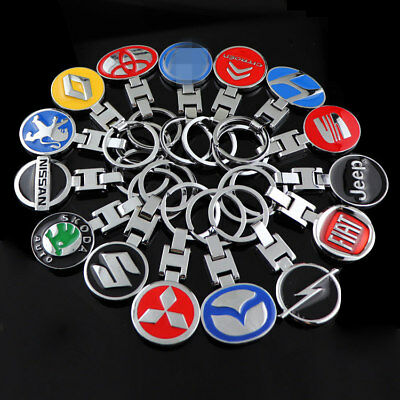 For 3D Metal Car Logo Keyring Keychain Key Chain Pendant Gift