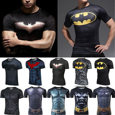 New 3D Batman T-Shirt Marvel Comics Men Movie Superhero Compression Sport  Tops edff9e8ae04