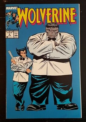 Wolverine #8 (1989 Marvel) *pin-Up By Liefeld On Back* Nm-/nm