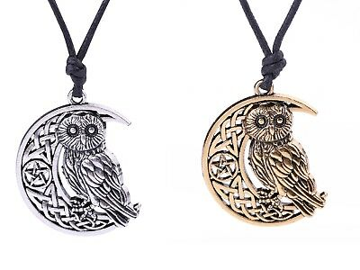 Celtic Knot Crescent Moon Pentagram Animal Owl Smart Symbol Talisman Necklace