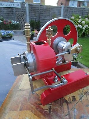 Large scratch built stationery engine i think it works using heat/ flame