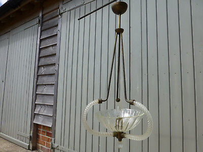 Lovely Edwardian? hall/ceiling chandelier type light simple and elegant